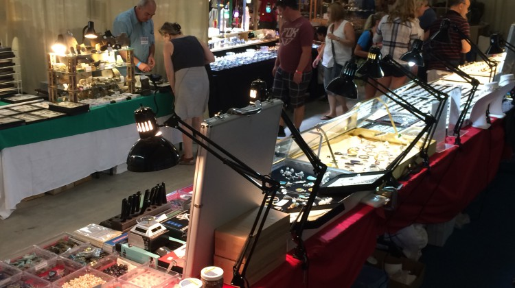 (Photo: Vendors from around the region and beyond are participating in this year's Rockhound Gemboree.  Credit: Amanda Lorbetski)
