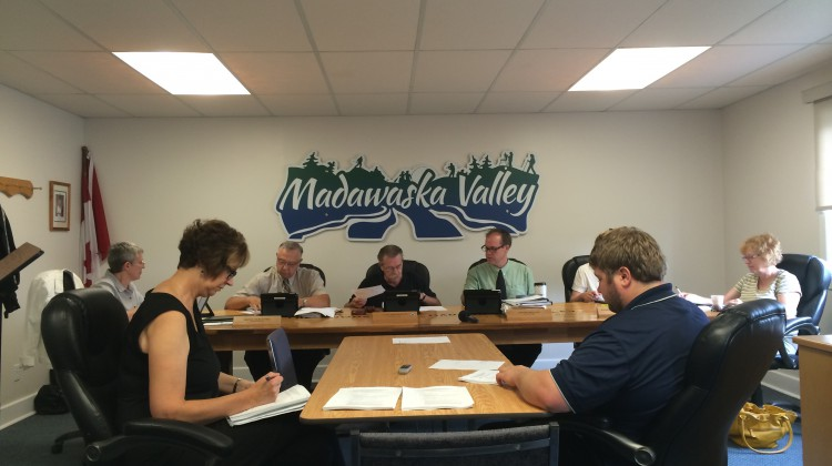 (Photo: The Madawaska Valley Recreation, Heritage and Culture Committee discussed a staff report on recent damage done to Stan's Park, otherwise called Reeve's Park, at its meeting in Barry's Bay September 3rd.  Credit: Amanda Lorbetski)