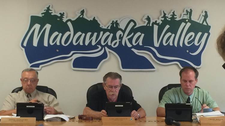 (Photo: The Madawaska Valley Recreation, Heritage and Culture Committee met in Barry's Bay September 4th.  Pictured (left to right:) Vice Chairperson Ernie Peplinski, Chairperson Carl Bromwich and Chief Administrative Officer/Clerk Craig Kelley.  Credit: Amanda Lorbetski)