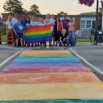 rainbow crosswalk bancroft