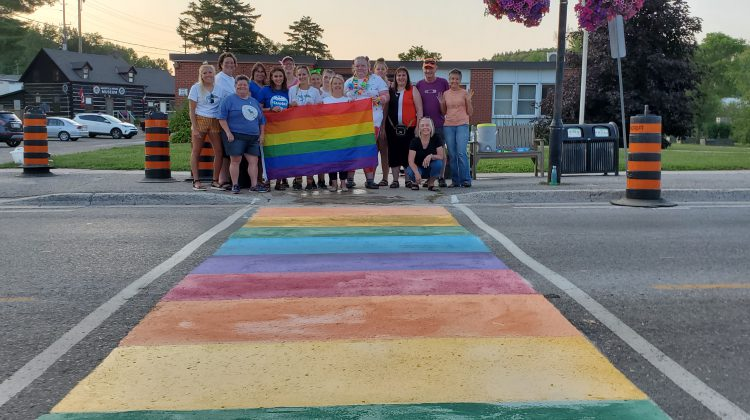 rainbow crosswalk bancroft