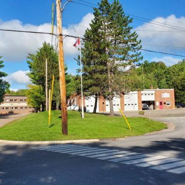 fire department high school parking lot